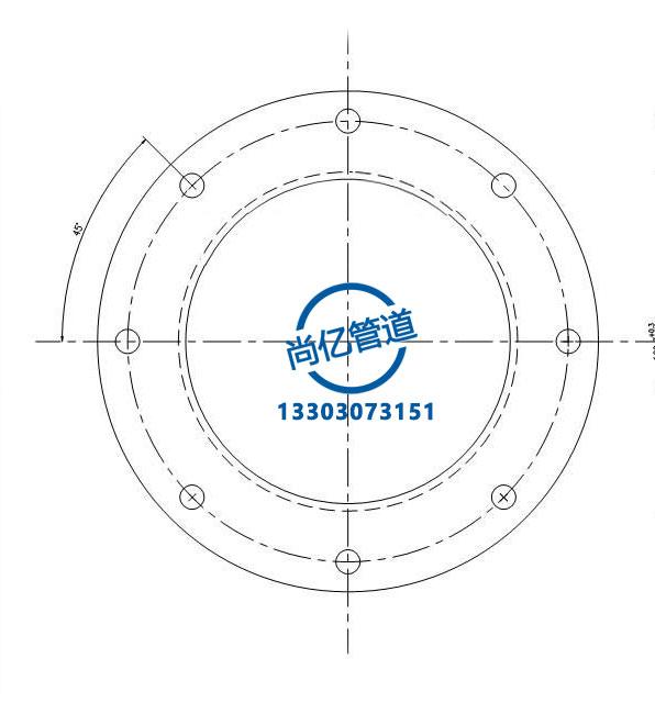 对焊法兰连接尺寸图